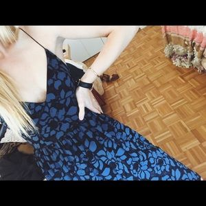 Likely Dresses - Blue and black lace dress